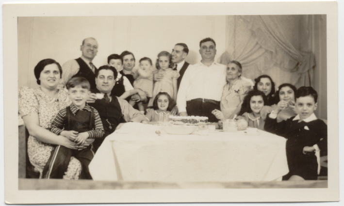 This is a photo of Allison's Sicilian grandparents Lorenzina and Vincenzo Scola and her father Peter when he was a child (far left) celebrating in Brooklyn, N.Y., in the late 1940s. Allison loves this photo because it really captures the joyous spirit of Italian immigrant families.