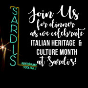 Sardi's Sign for upcoming events on webiste