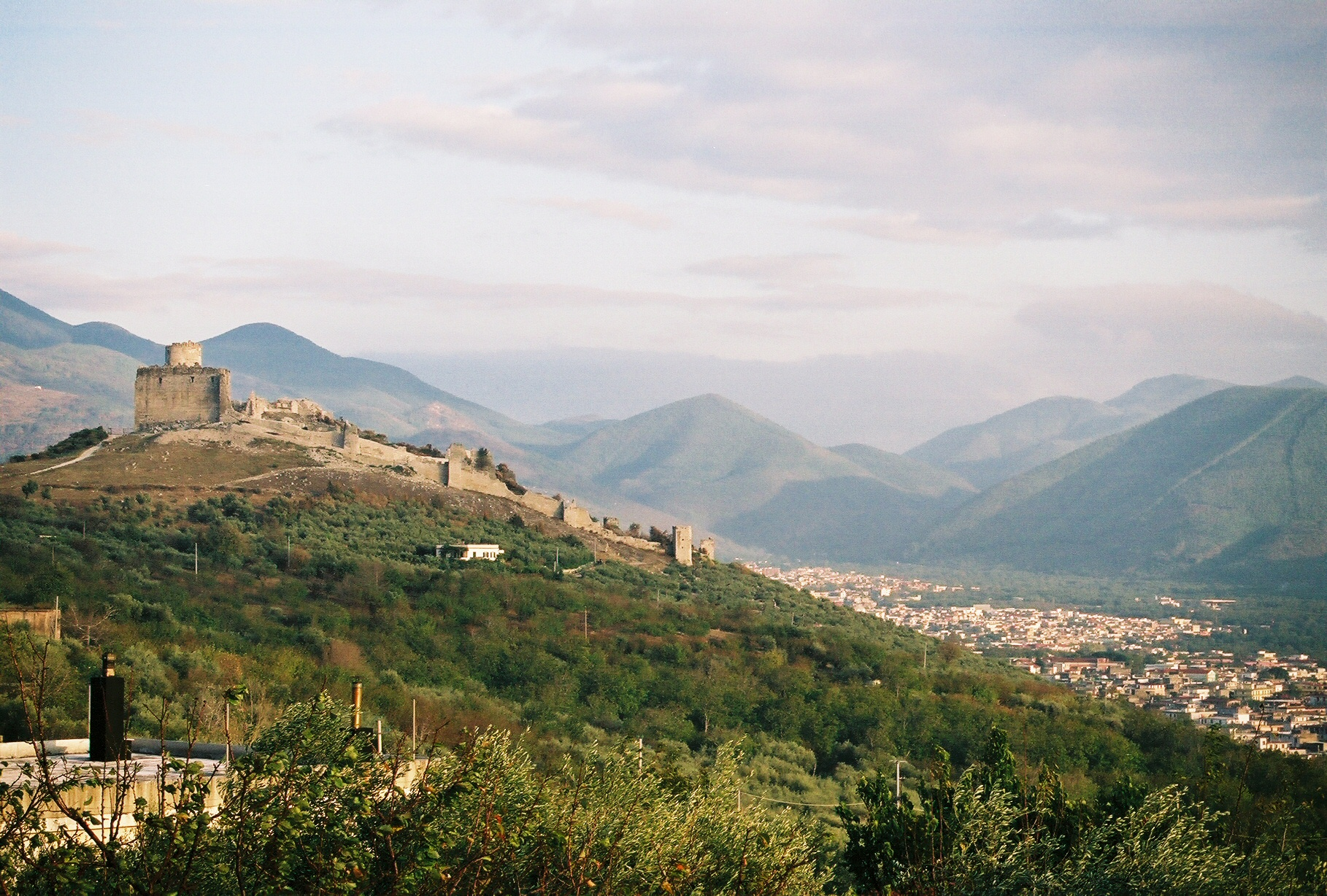 Norman Castle on the hill overlooking Avella, Campania, Italy, Eleanor's birthplace.