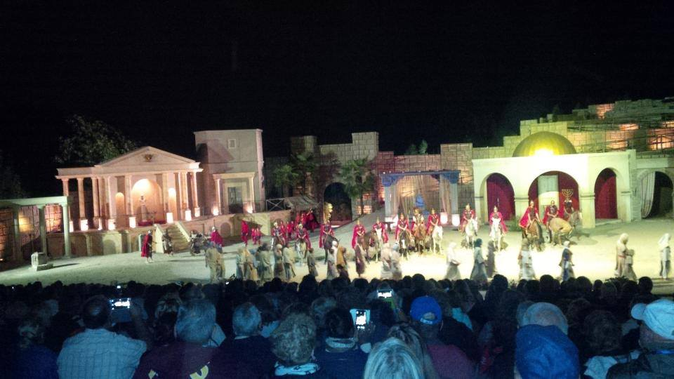 A shot from the Passion Play in Sordevolo.