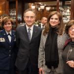 Gina M. Grosso, Italian Ambassador Claudio Bisogniero, Gemma Puglisi and Diana Femia