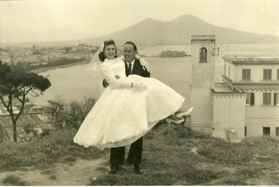 Rita's parents Marisa Di Raimo and Henry Morgan on their wedding day in Napoli, 1955. Photographer unknown.