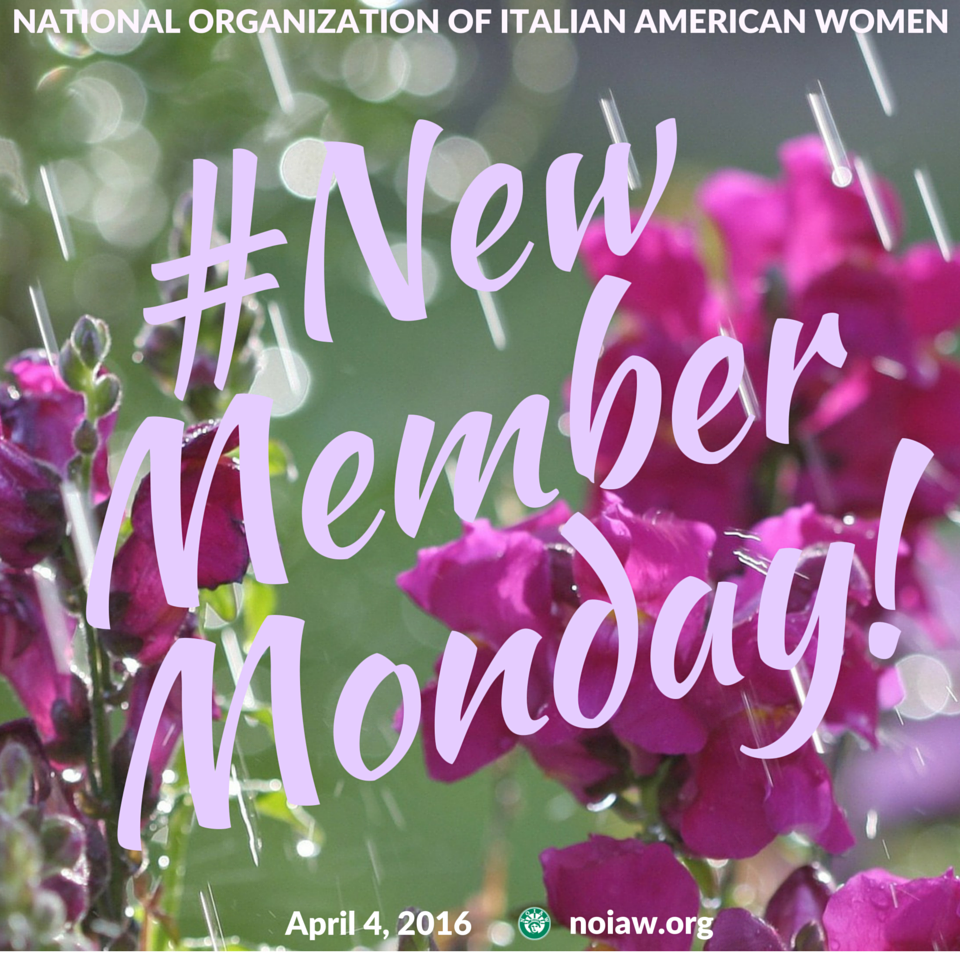 April New Member Monday