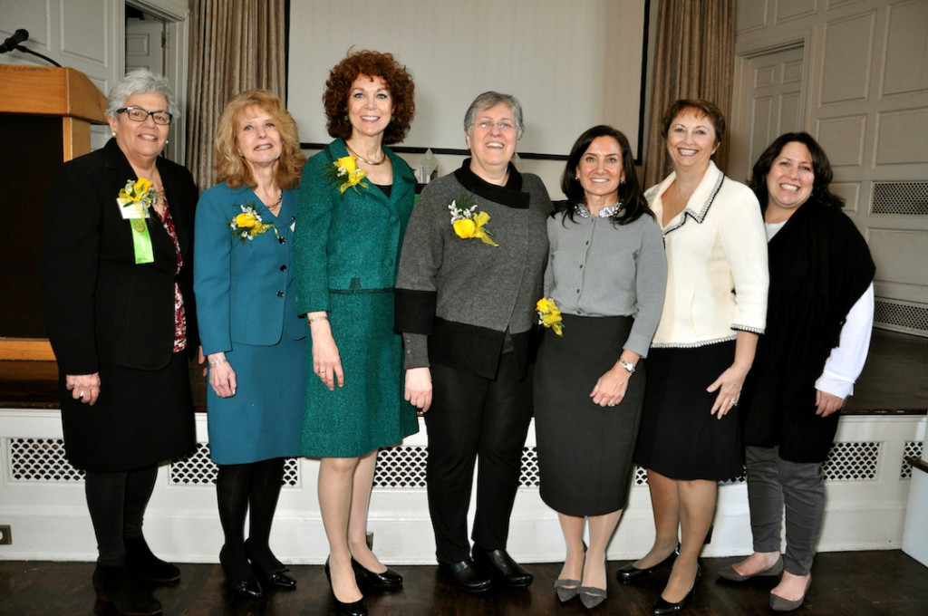 NOIAW Founder and Chair Emerita Aileen Riotto Sirey, Ph.D.; NOIAW National Board Chair Maria Tamburri; Donna Palomba; Patricia (Pat) LoRusso, DO, Ph.D. (H); Sallie Vece DeMarsilis; Connecticut Region President Jo-Ann Daddio Larsen; Connecticut Region VP Kathleen Miller