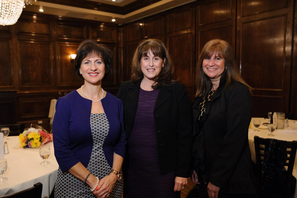 L to R: Honorees Jeanne Abate Allen, Roberta Lynn DeBiasi, MD, MS, and Gina Talamona