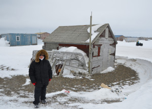 Ellie in Gambell, St. Lawrence Island